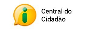 banner com logotipo e letering da central do cidadão